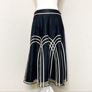 Ann Taylor Loft Midi Length Layered A-Line Skirt